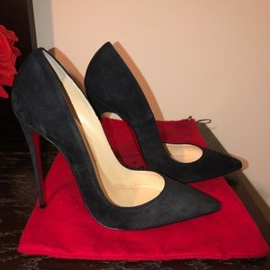 Christian Louboutin So Kate Suede black 120mm